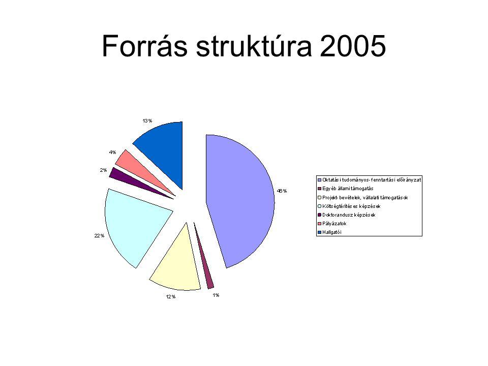 Forrás struktúra 2005