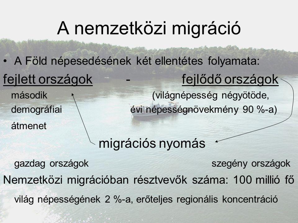 A nemzetközi migráció fejlett országok - fejlődő országok