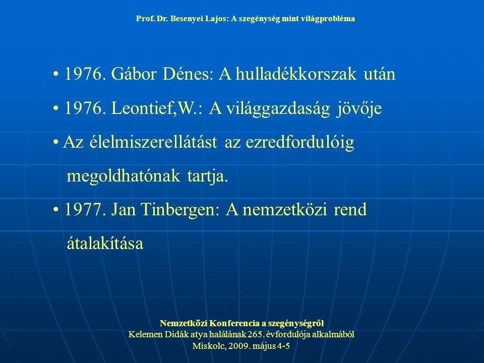 1976. Gábor Dénes: A hulladékkorszak után