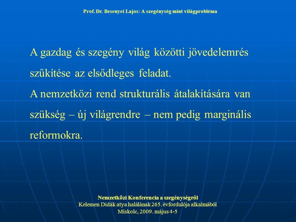 Prof. Dr. Besenyei Lajos: A szegénység mint világprobléma