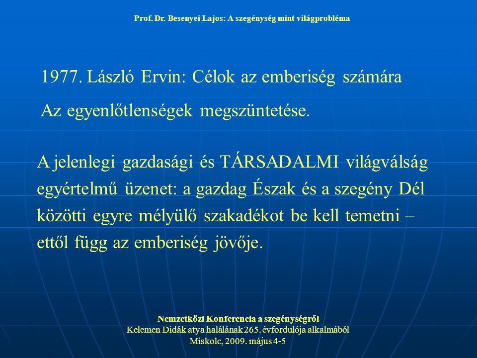 1977. László Ervin: Célok az emberiség számára