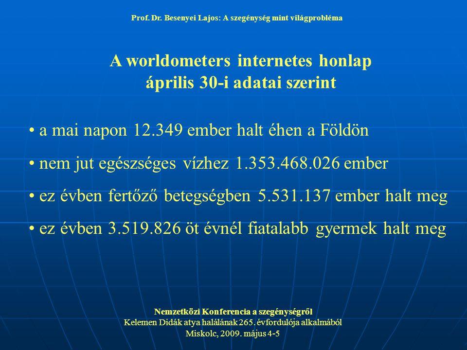 A worldometers internetes honlap április 30-i adatai szerint