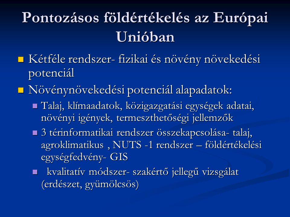 Pontozásos földértékelés az Európai Unióban