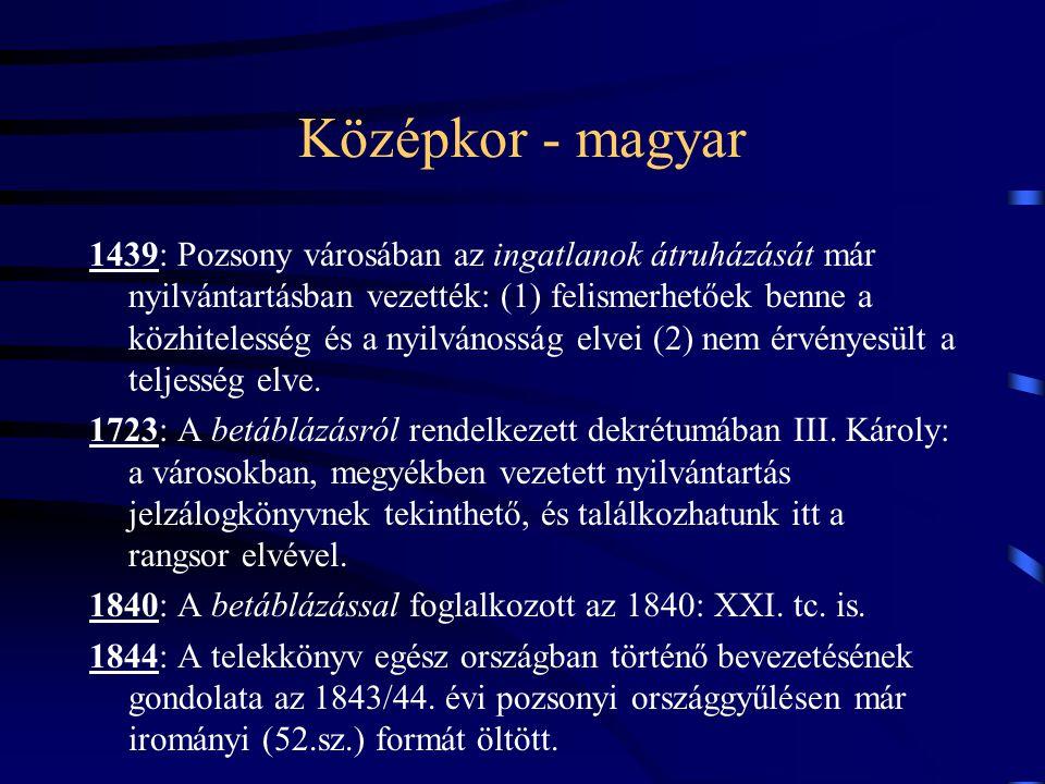 Középkor - magyar