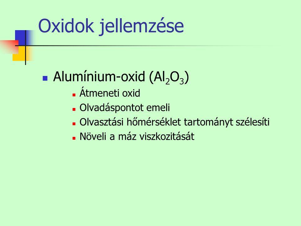 Oxidok jellemzése Alumínium-oxid (Al2O3) Átmeneti oxid