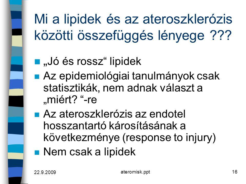 Mi a lipidek és az ateroszklerózis közötti összefüggés lényege