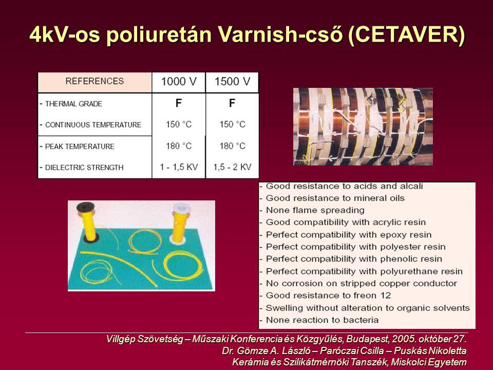 4kV-os poliuretán Varnish-cső (CETAVER)