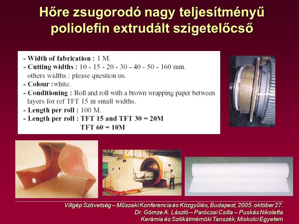 Hőre zsugorodó nagy teljesítményű poliolefin extrudált szigetelőcső
