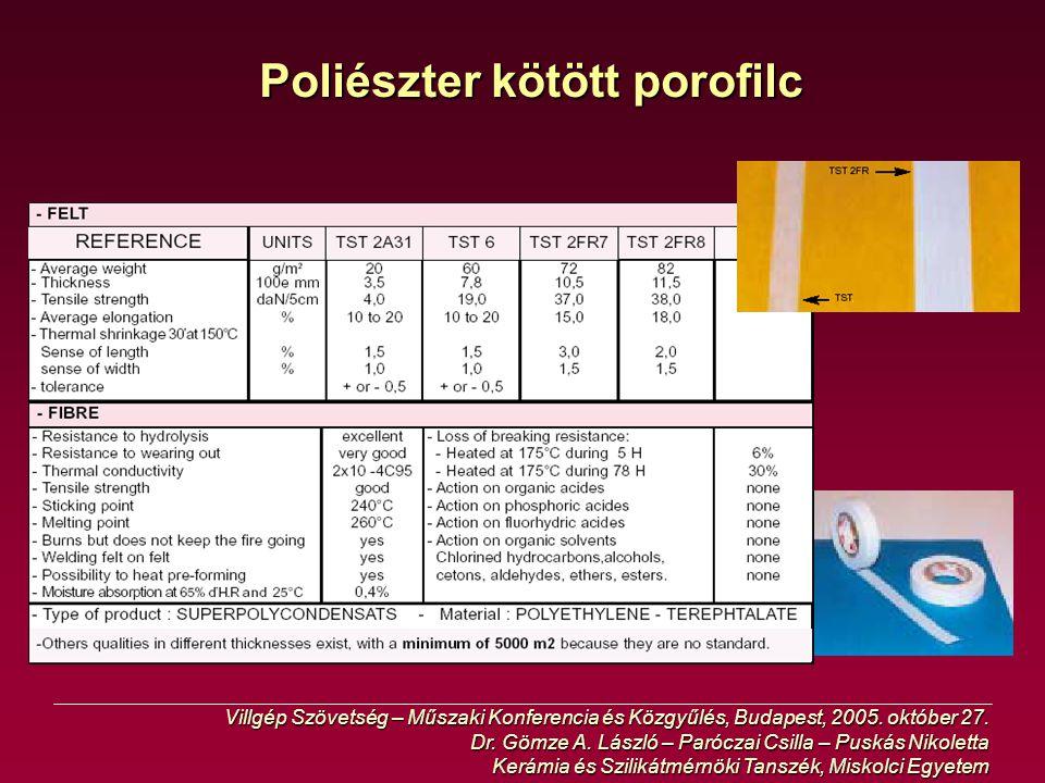 Poliészter kötött porofilc