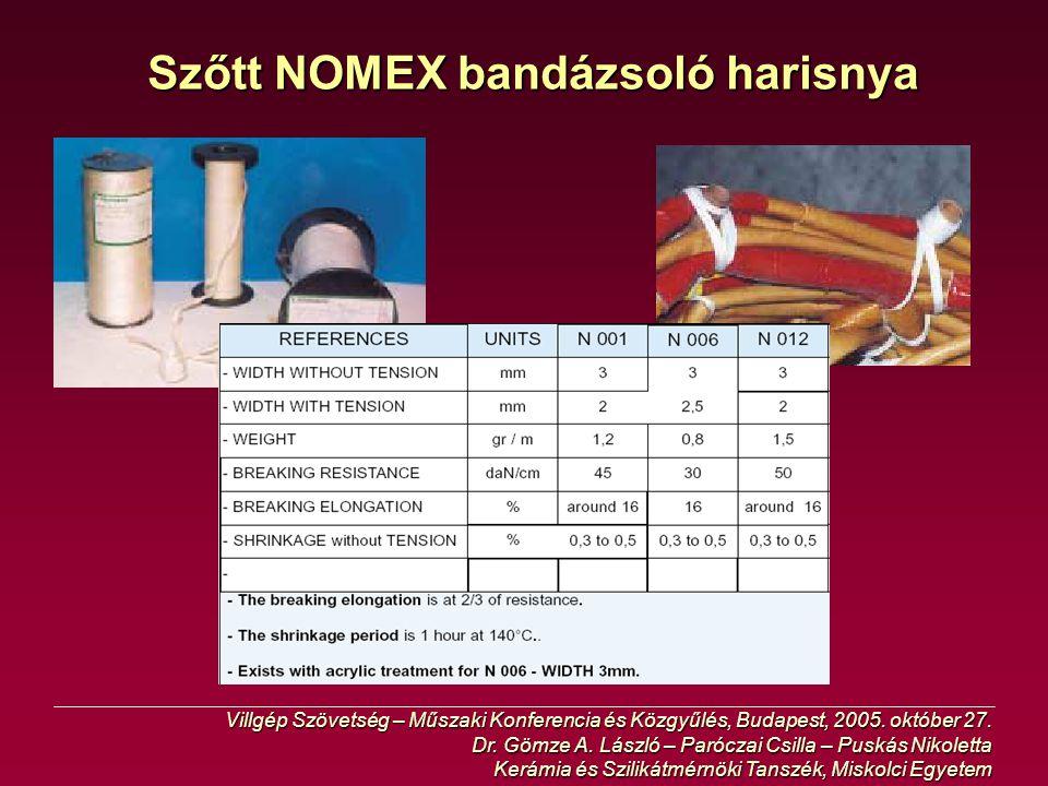 Szőtt NOMEX bandázsoló harisnya