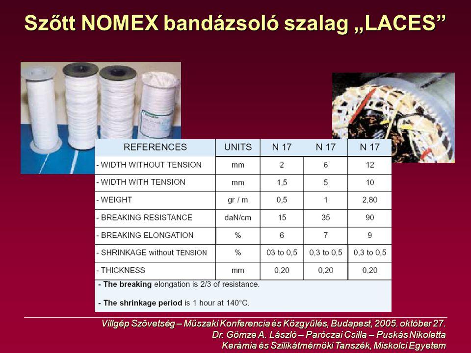 """Szőtt NOMEX bandázsoló szalag """"LACES"""