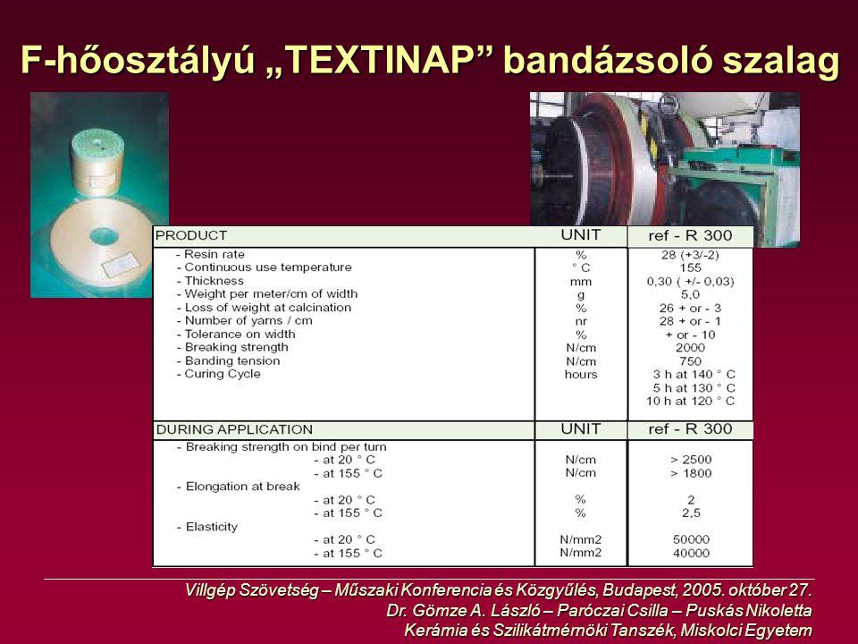 """F-hőosztályú """"TEXTINAP bandázsoló szalag"""
