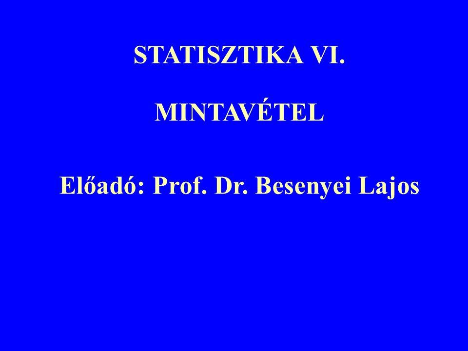 Előadó: Prof. Dr. Besenyei Lajos