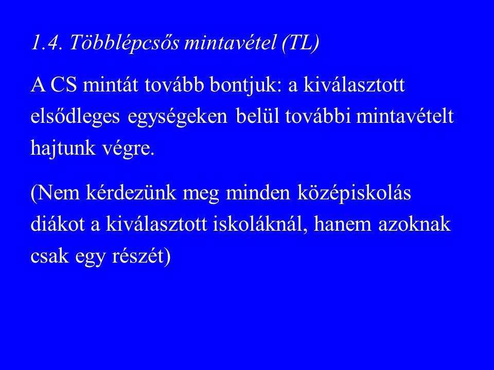 1.4. Többlépcsős mintavétel (TL)