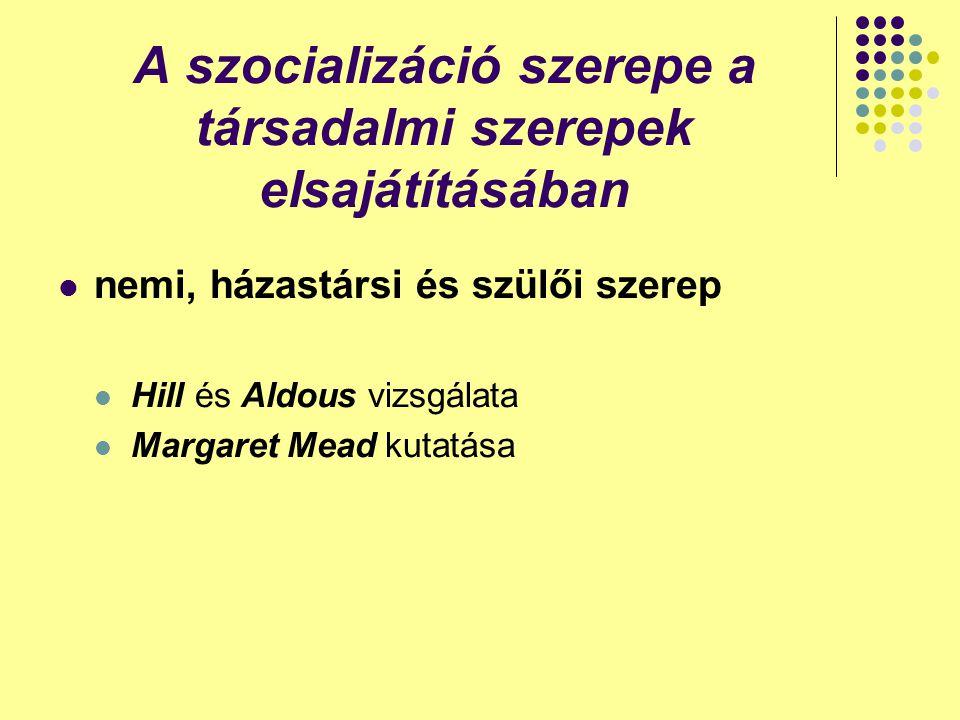 A szocializáció szerepe a társadalmi szerepek elsajátításában