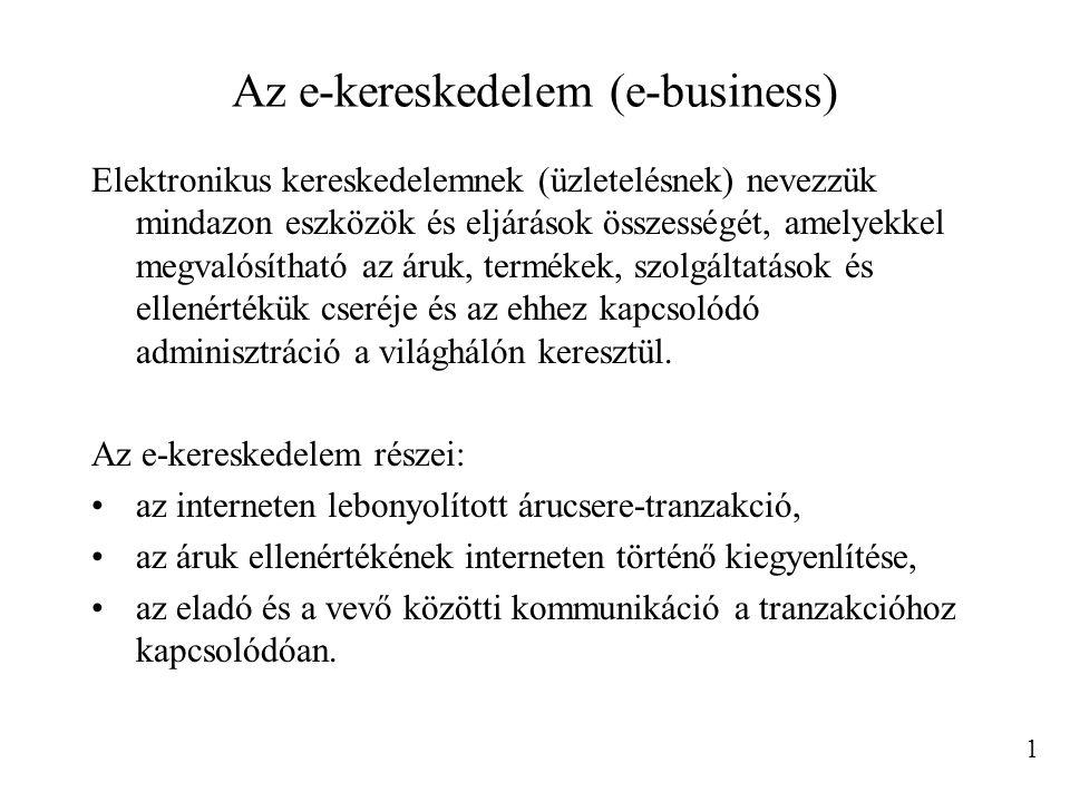 Az e-kereskedelem (e-business)
