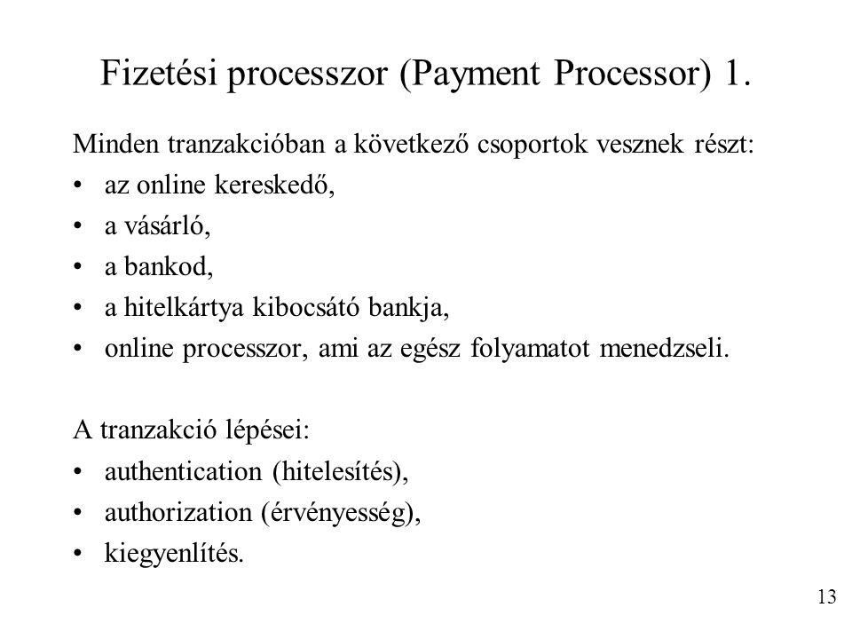 Fizetési processzor (Payment Processor) 1.