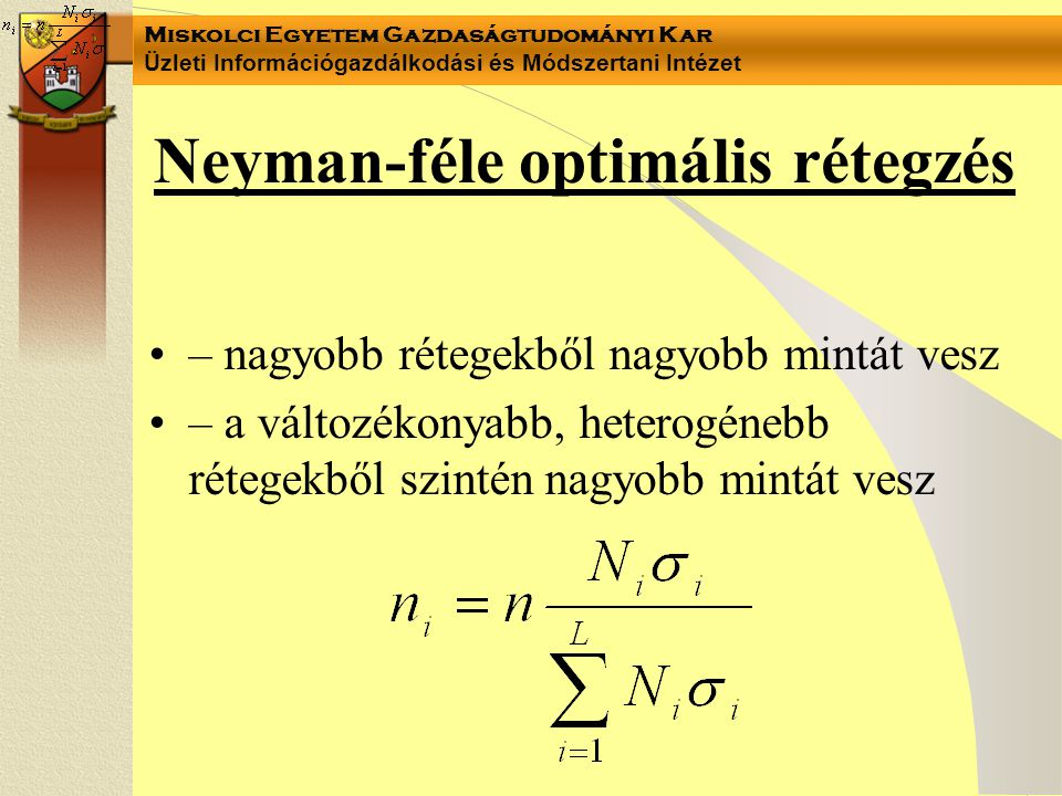 Neyman-féle optimális rétegzés