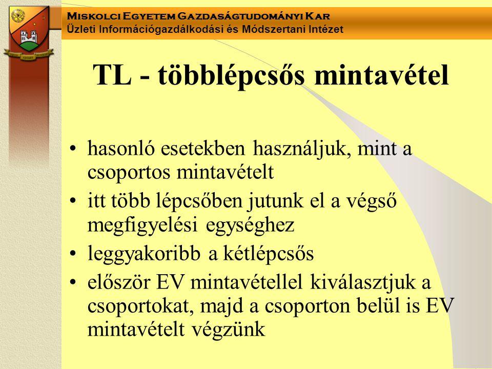 TL - többlépcsős mintavétel