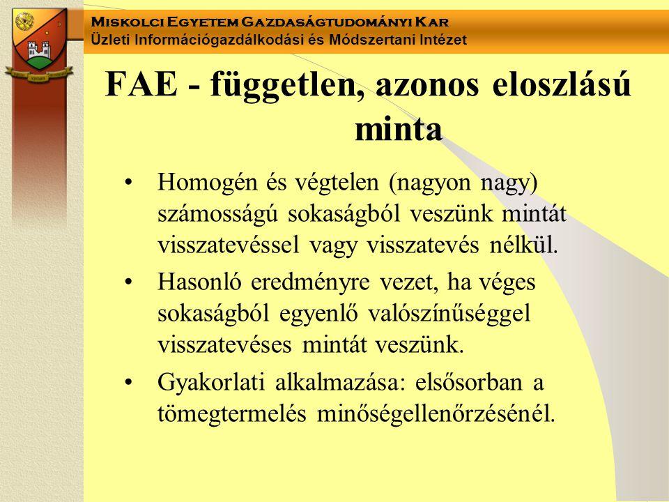 FAE - független, azonos eloszlású minta