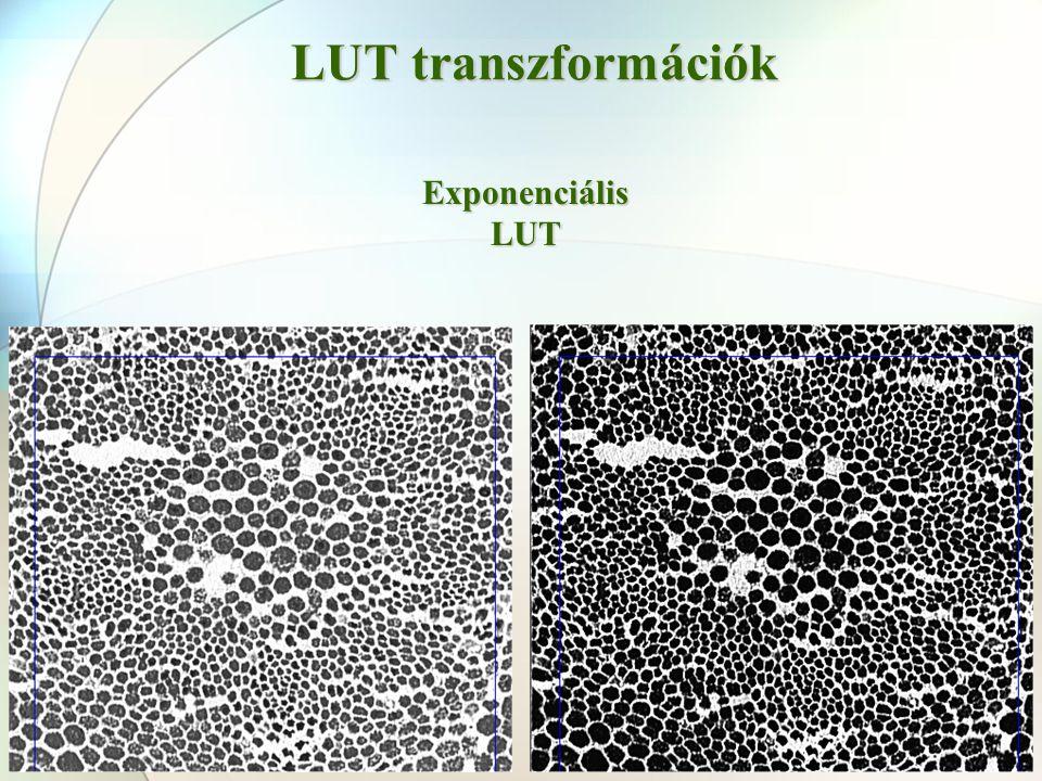 LUT transzformációk Exponenciális LUT