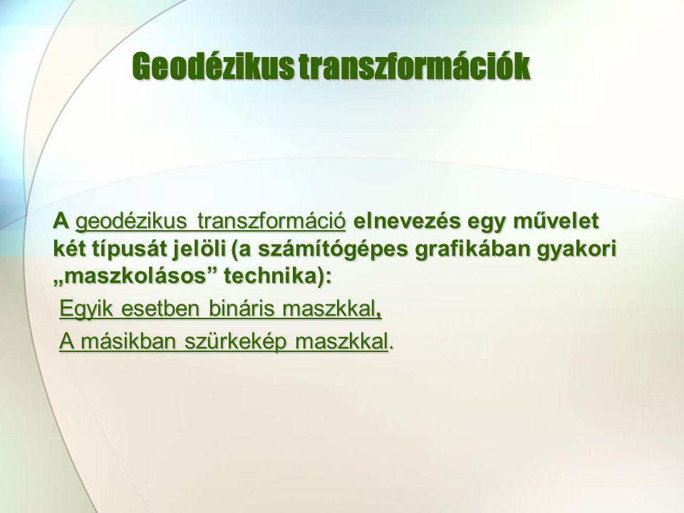 Geodézikus transzformációk