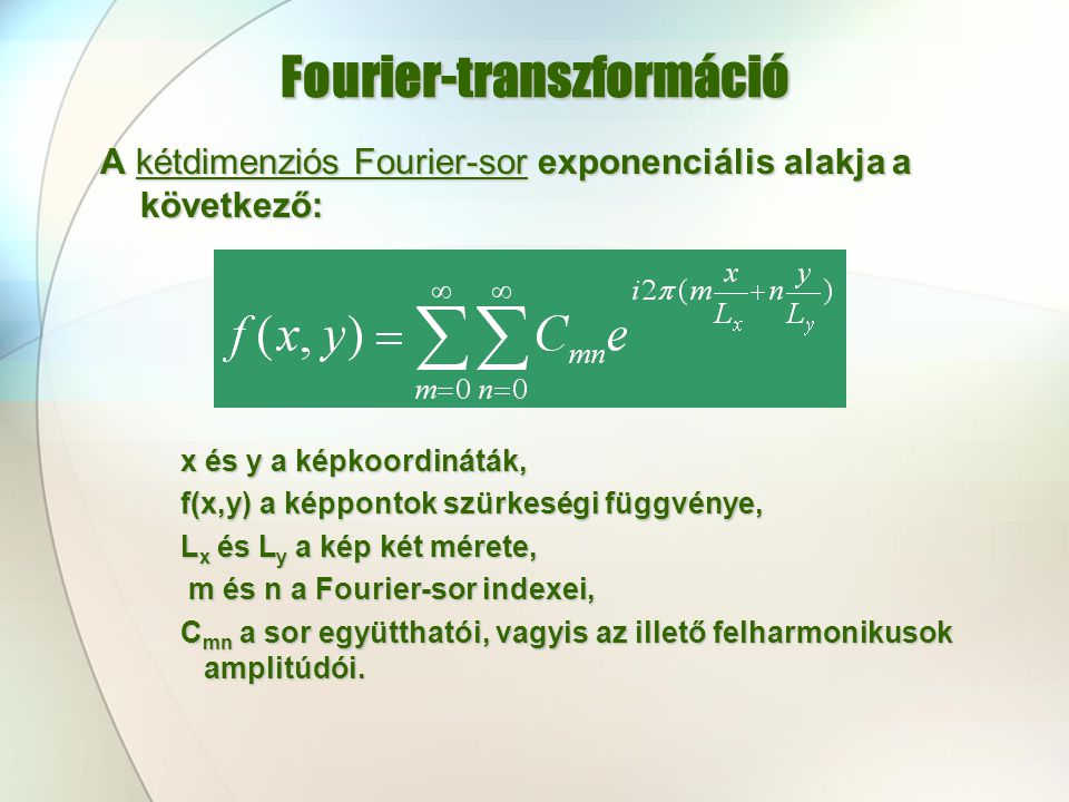 Fourier-transzformáció