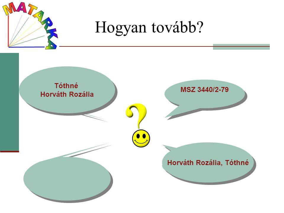 Horváth Rozália, Tóthné