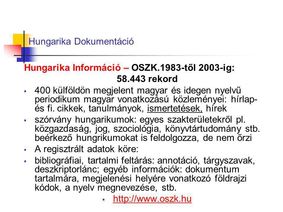 Hungarika Dokumentáció