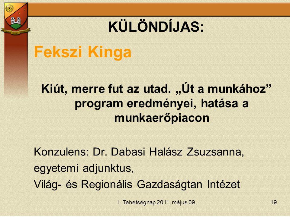 Fekszi Kinga KÜLÖNDÍJAS: