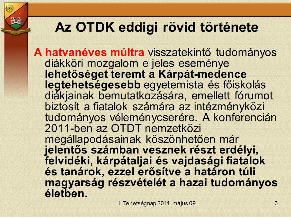 Az OTDK eddigi rövid története
