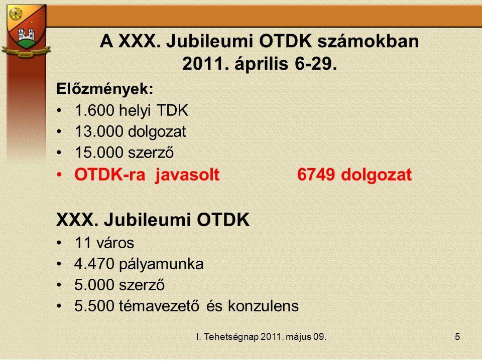 A XXX. Jubileumi OTDK számokban 2011. április 6-29.