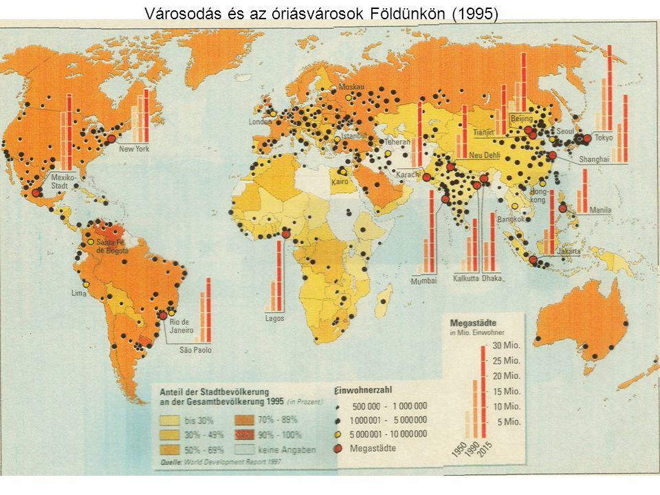Városodás és az óriásvárosok Földünkön (1995)