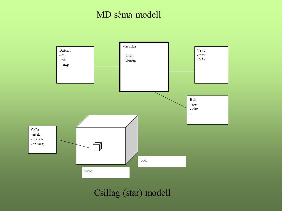 MD séma modell Csillag (star) modell Vásárlás - érték - tömeg Dátum