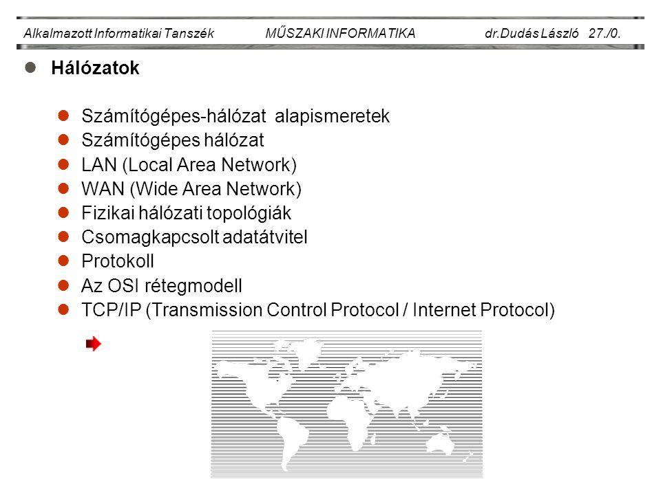 Számítógépes-hálózat alapismeretek Számítógépes hálózat