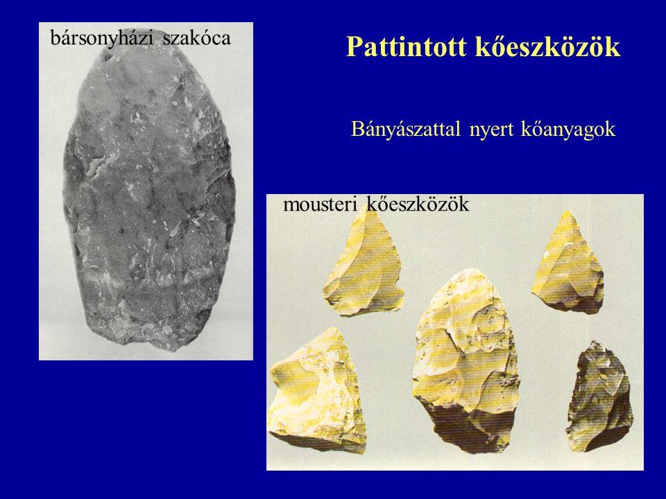 Pattintott kőeszközök