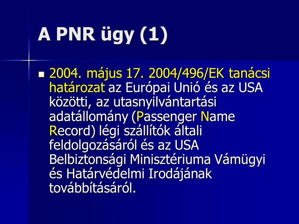 A PNR ügy (1)