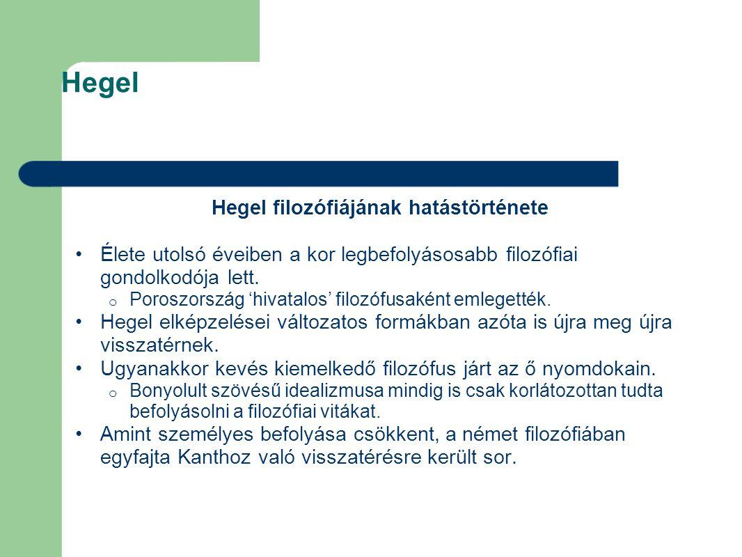 Hegel filozófiájának hatástörténete
