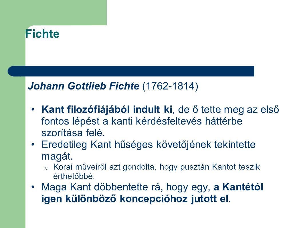 Fichte Johann Gottlieb Fichte (1762-1814)