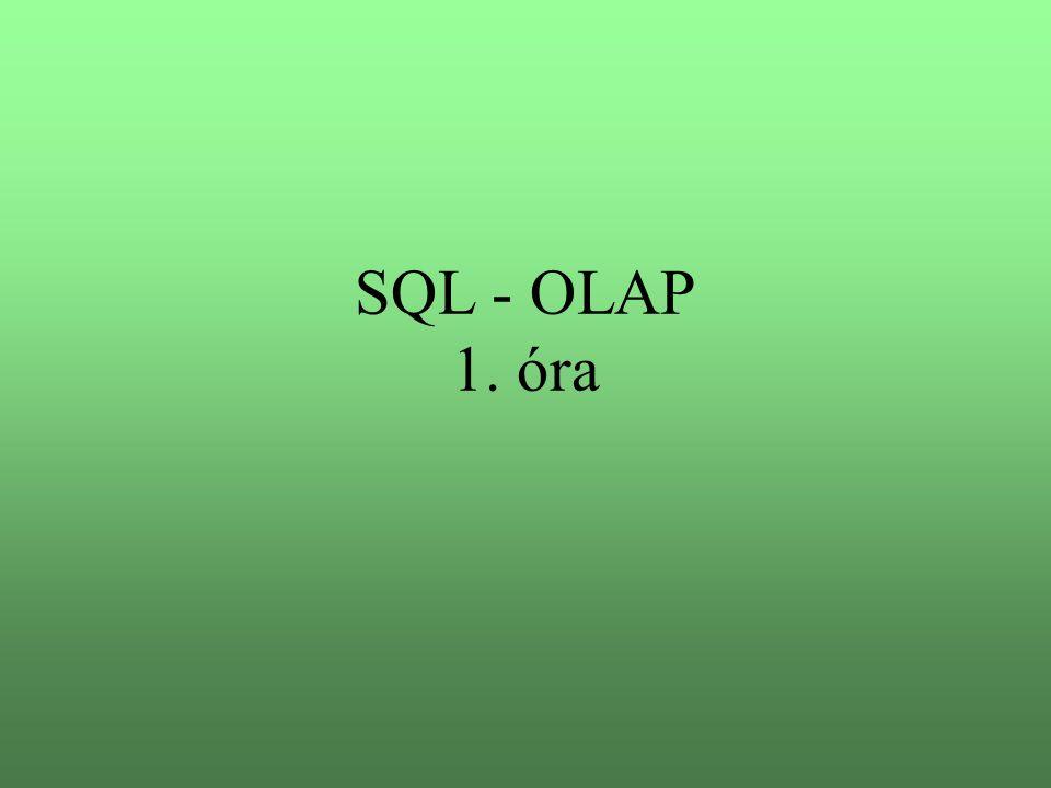 SQL - OLAP 1. óra