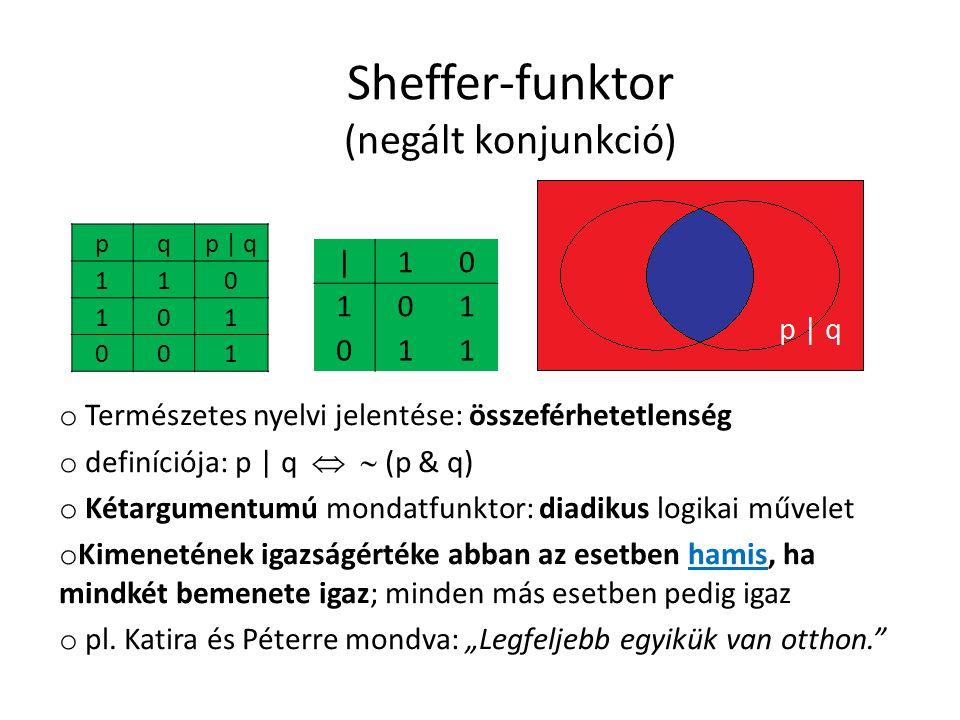 Sheffer-funktor (negált konjunkció)