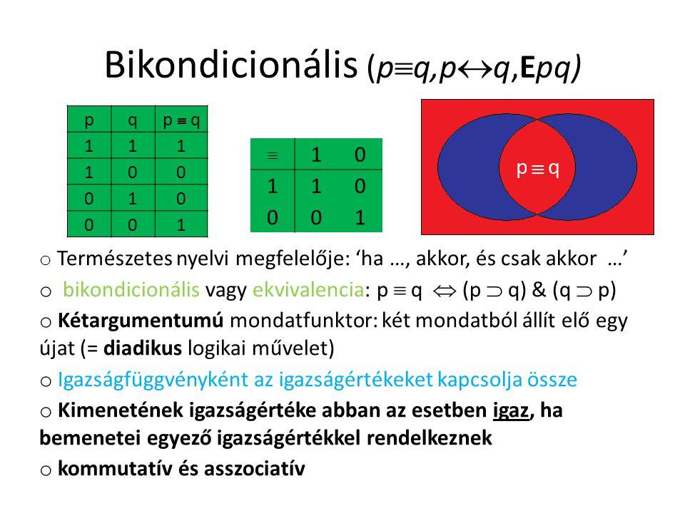 Bikondicionális (pq,pq,Epq)