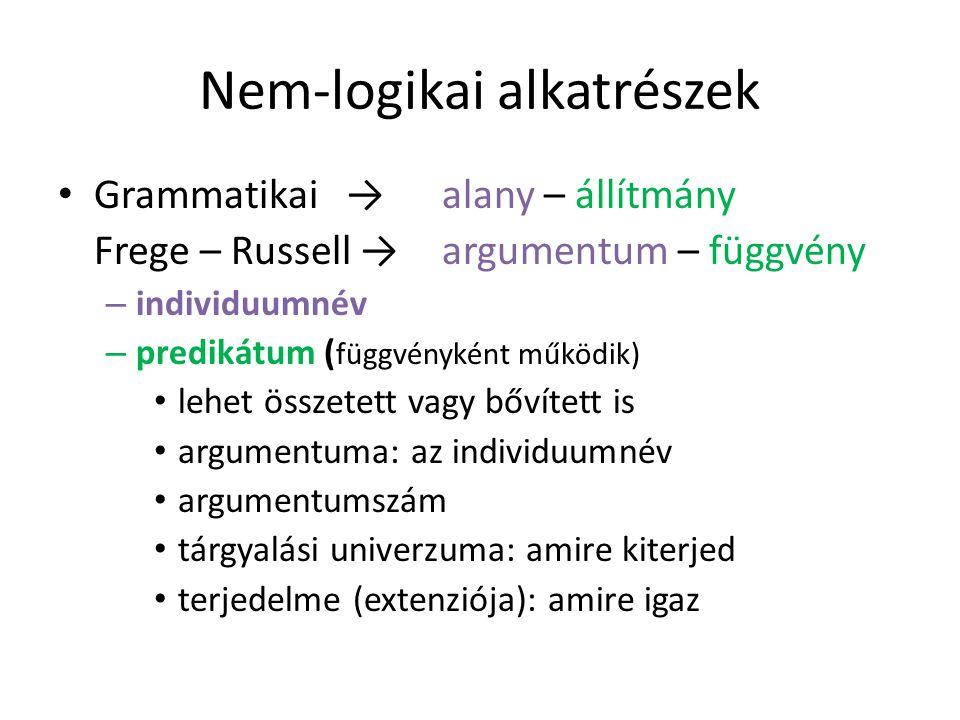 Nem-logikai alkatrészek