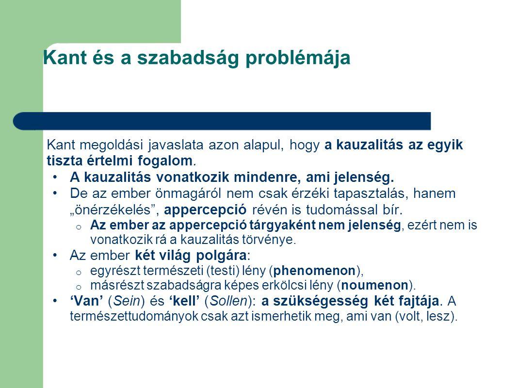 Kant és a szabadság problémája