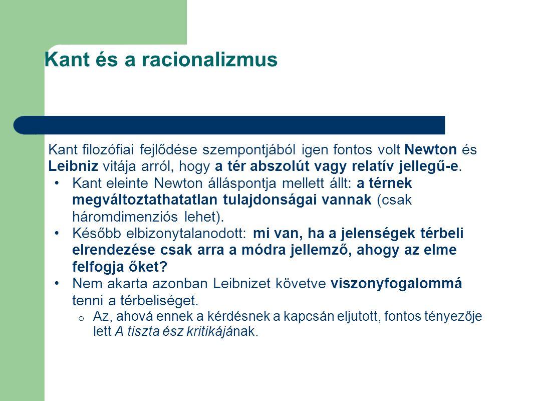 Kant és a racionalizmus