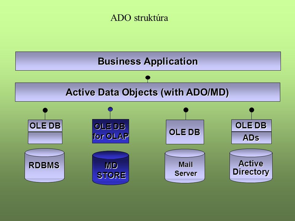 Active Data Objects (with ADO/MD)