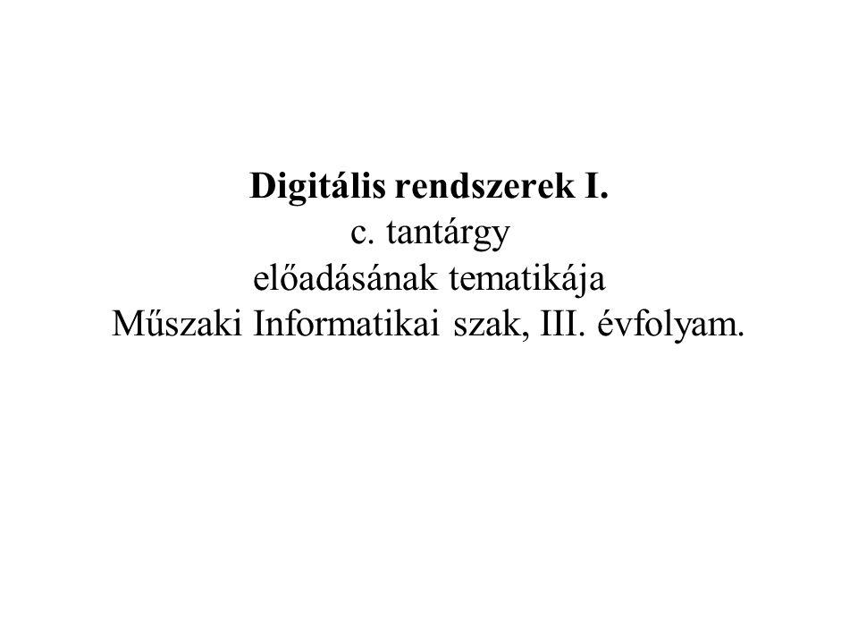 Digitális rendszerek I. c