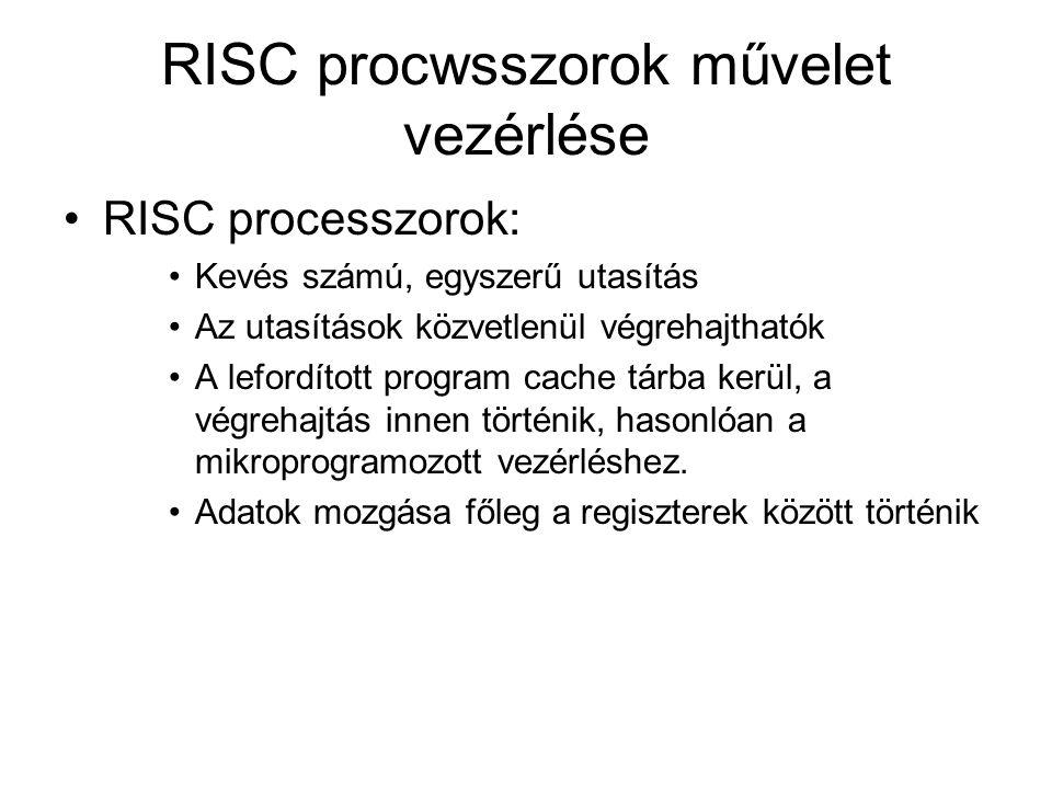 RISC procwsszorok művelet vezérlése