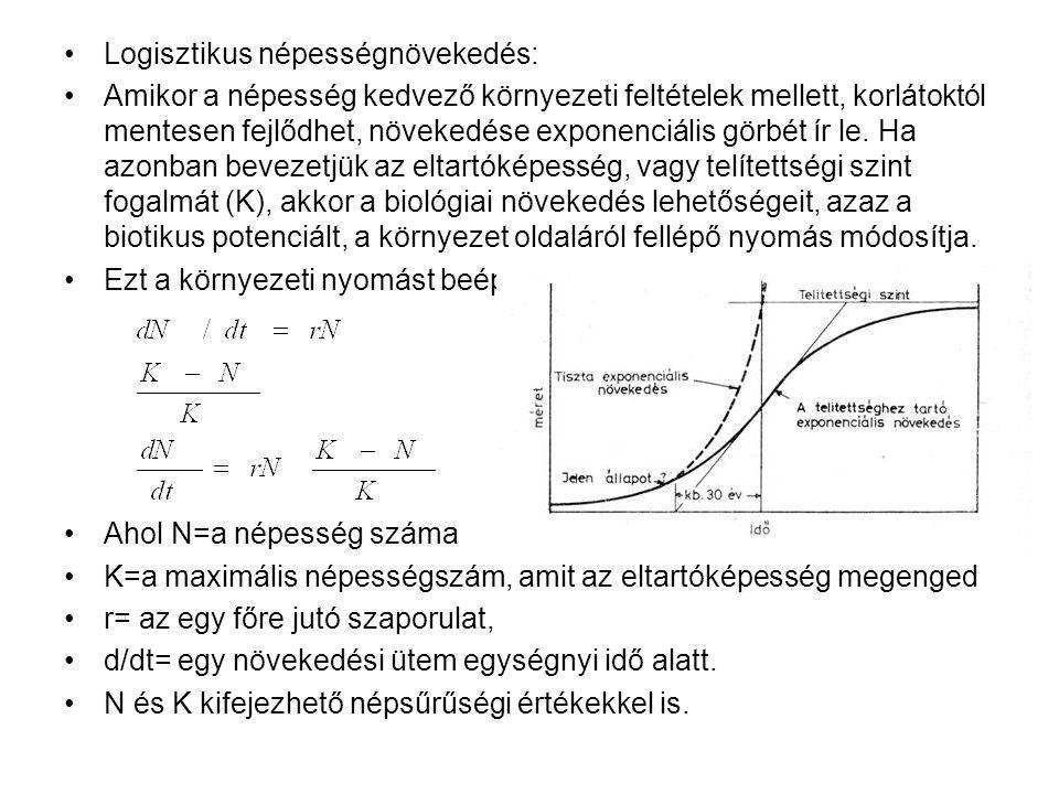 Logisztikus népességnövekedés:
