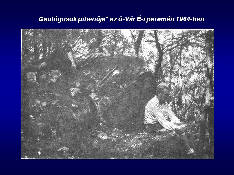 Geológusok pihenője az ó-Vár É-i peremén 1964-ben